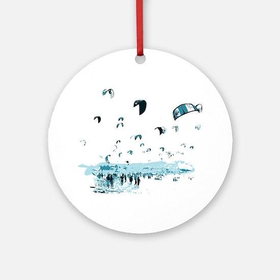 Kite Surfing Round Ornament