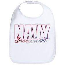 Cute Navy sweetheart Bib