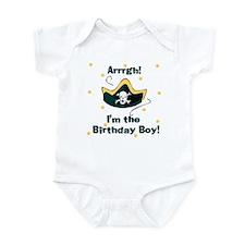 Arrgh Pirate Birthday Boy Baby Infant Bodysuit