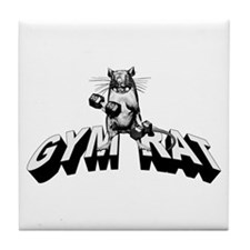 Gym Rat Tile Coaster