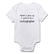 When I grow up I want to be a Lexicographer Infant