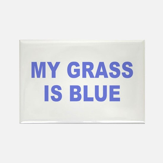 Simple My Grass is Blue Rectangle Magnet