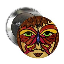 """Butterfly Mask 2.25"""" Button (100 pack)"""