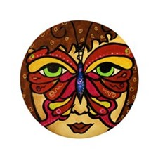 """Butterfly Mask 3.5"""" Button (100 pack)"""