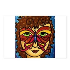 Butterfly Mask Postcards (Package of 8)