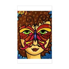 Butterfly Mask Rectangle Decal