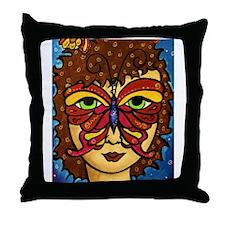 Butterfly Mask Throw Pillow