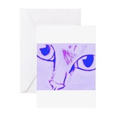 Lilac Cat Greeting Card