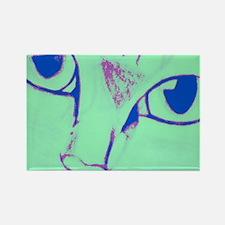 Green Cat Rectangle Magnet