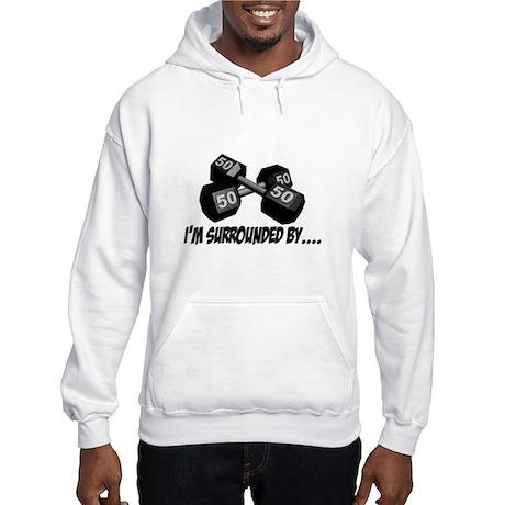 Dumbbell Humor Hooded Sweatshirt