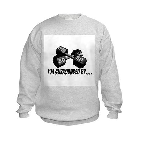 Dumbbell Humor Kids Sweatshirt