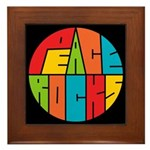 Peace Rocks Framed Tile