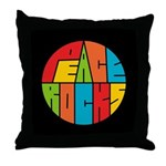 Peace Rocks Throw Pillow