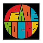 Peace Rocks Tile Coaster