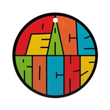 Peace Rocks Ornament (Round)