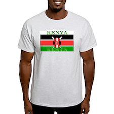 Kenya Kenyan Flag Ash Grey T-Shirt
