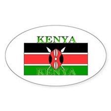 Kenya Kenyan Flag Oval Decal