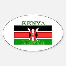 Kenya Kenyan Flag Oval Decal
