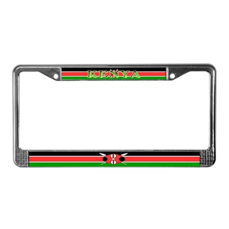 Kenya Kenyan Flag License Plate Frame