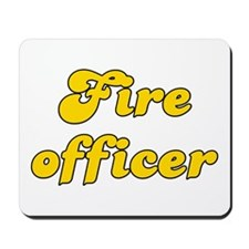 Retro Fire officer (Gold) Mousepad