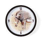 Kenya zebra clock Wall Clocks