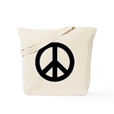 Black Peace Sign Tote Bag