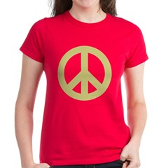 Golden Peace Sign Tee
