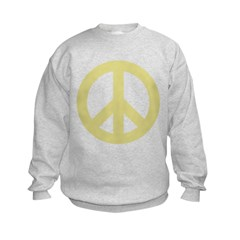 Golden Peace Sign Sweatshirt