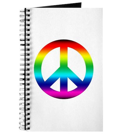 Rainbow Peace Sign Journal
