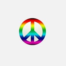 Rainbow Peace Sign Mini Button