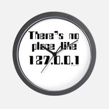 no place like 127.0.0.1 Wall Clock