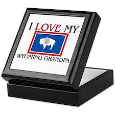 I Love My Wyoming Grandpa Keepsake Box