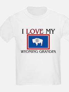 I Love My Wyoming Grandpa T-Shirt