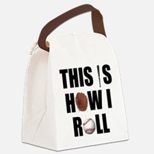 Baseball How I Roll Canvas Lunch Bag