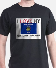I Love My Wisconsin Grandpa T-Shirt
