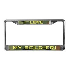 Camo I Love My Soldier License Plate Frame