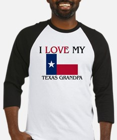 I Love My Texas Grandpa Baseball Jersey