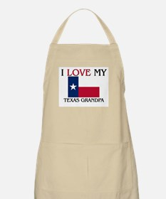 I Love My Texas Grandpa BBQ Apron