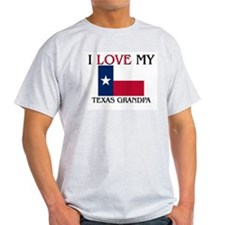 I Love My Texas Grandpa T-Shirt
