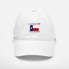 I Love My Texas Grandpa Baseball Baseball Cap