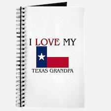 I Love My Texas Grandpa Journal