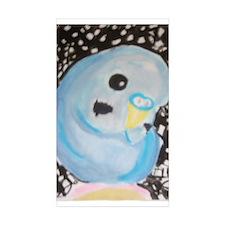 Budgie Among Stars Rectangle Sticker 10 pk)