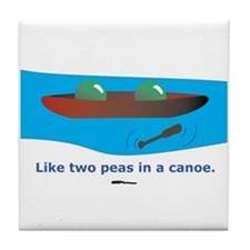 in a Canoe Tile Coaster