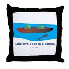 in a Canoe Throw Pillow