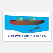 in a Canoe Rectangle Decal