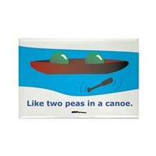 in a Canoe Rectangle Magnet