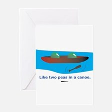 in a Canoe Greeting Card