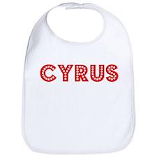 Retro Cyrus (Red) Bib
