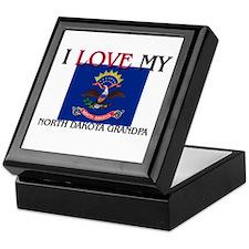I Love My North Dakota Grandpa Keepsake Box