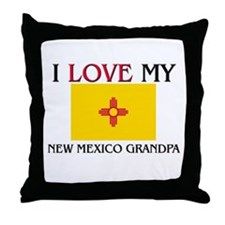 I Love My New Mexico Grandpa Throw Pillow